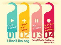 طريقة الحصول على الاف الزوار لصفحتك على الفيسبوك وتويتر وكل مواقع التواصل الأجتماعى Like4like