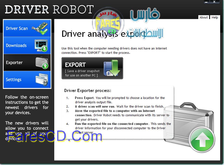 البرنامج المزهل لجلب التعريفات وتحديثها DriverRobot v2.5.4.2 كامل بالتفعيل للتحميل برابط واحد مباشر على الارشيف