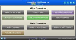 تجميعة مجانية لتحويل ملفات الصوت والفيديو والفلاش Pazera Audio Video Pack 2.4  للتحميل برابط واحد مباشر