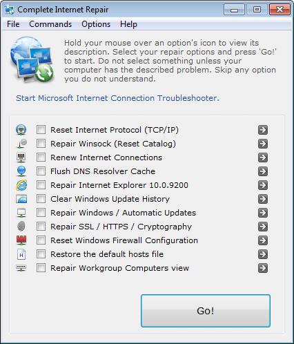 أداة كشف وإصلاح مشاكل الإتصال بالإنترنت Complete Internet Repair v2.1.0.2103 Portable للتحميل برابط مباشر