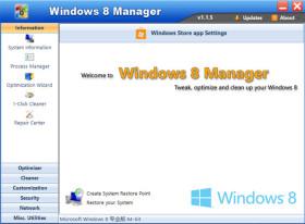 برنامج صيانة ويندوز 8 | Yamicsoft Windows 8 Manager 2.1.9