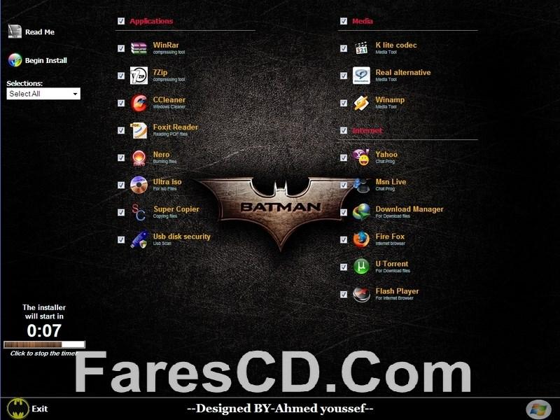 ويندوز إكس بى باتمان 2 Windows Xp SP3 batman v2 (4)