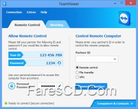 برنامج التحكم فى الكومبيوتر عن بعد | TeamViewer 10.0.38388