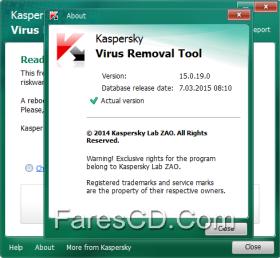 أداة كاسبر لإزالة الفيروسات | Kaspersky Virus Removal Tool v15.0.19.0 DC