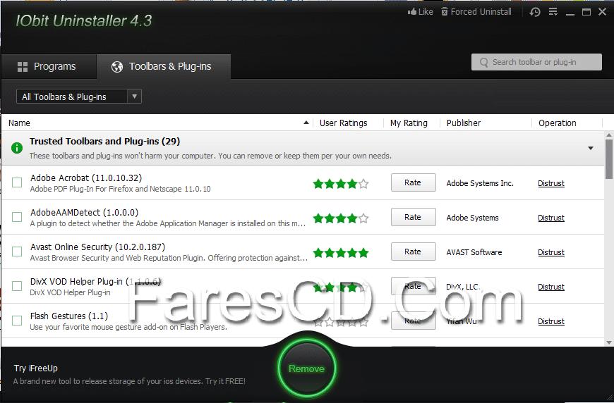 برنامج إزالة تثبيت البرامج بالكامل  Iobit Uninstaller 4.3.0.118 (3)