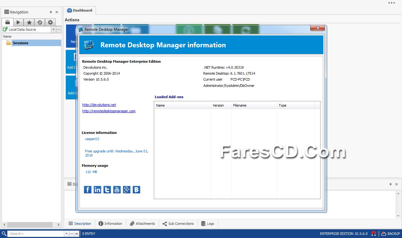 برنامج التحكم فى الكومبيوتر عن بعد  Remote Desktop Manager Enterprise 10.5.6 (1)
