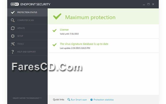 برنامج الحماية الشاملة Eset Endpoint Security 5 0 2242