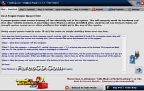 آخر إصدار من تجميعة أدوات صيانة الويندوز   Windows Repair (All In One) 3.4.3 Final