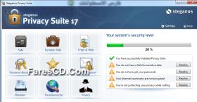 تجميعة برامج الحماية و حفظ الخصوصية   Steganos Privacy Suite 17.0.1