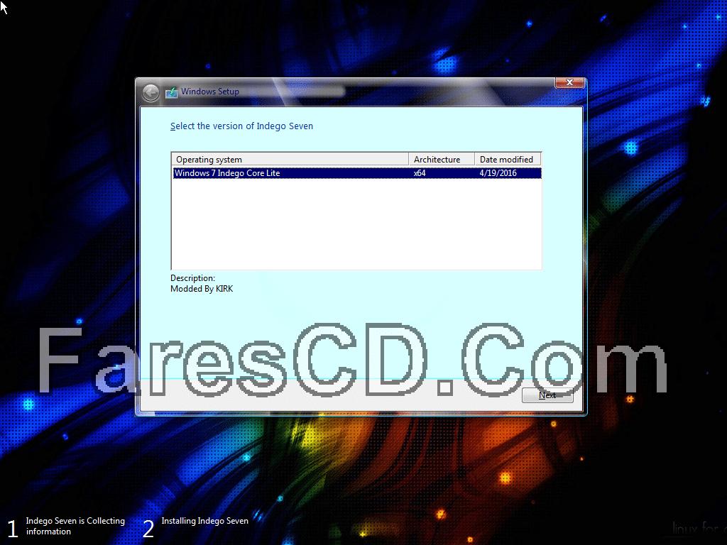 أحدث إصدارات ويندوز سفن المعدلة  Windows 7 Indego Core Lite April x64 (3)