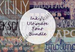 أحدث موسوعات الخطوط الأجنبية | Inky's Ultimate Font Bundle