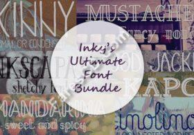 أحدث موسوعات الخطوط الأجنبية   Inky's Ultimate Font Bundle