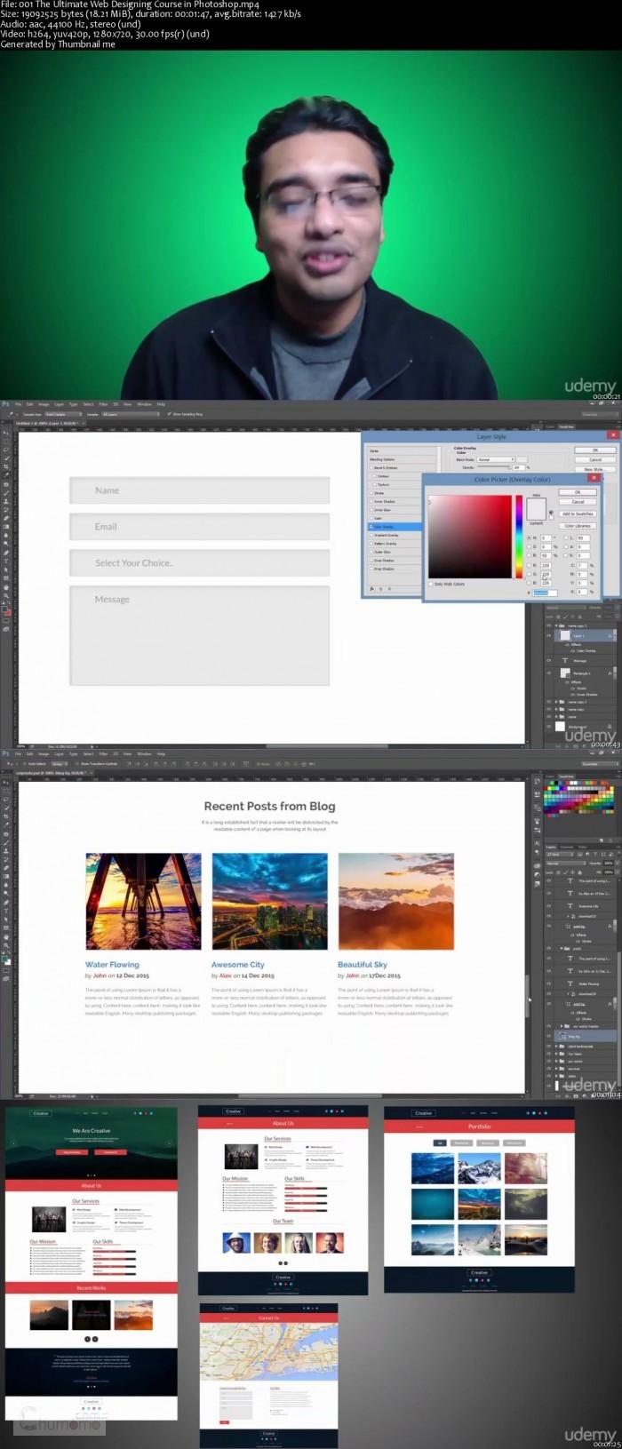 كورس تصميم المواقع بالفوتوشوب The Ultimate Web Designing Course in Photoshop (2)