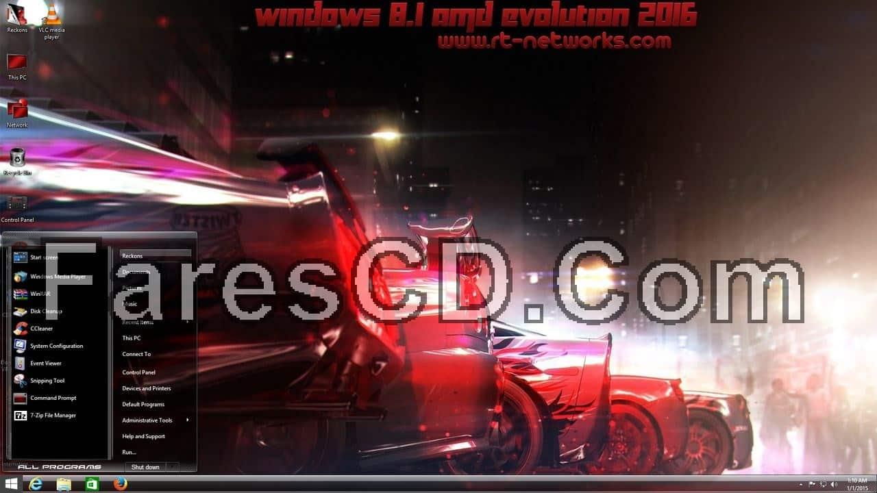 نسخة ويندوز 8.1 مخصصة للألعاب Windows 8.1 AMD Evolution 2016 x64 (1)