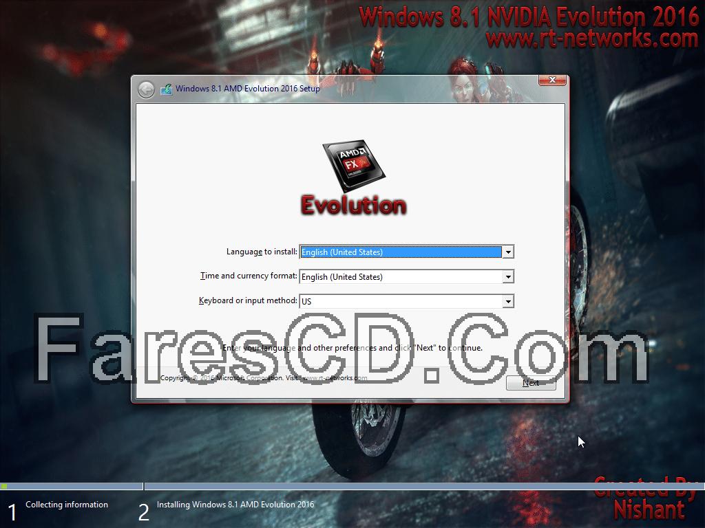 نسخة ويندوز 8.1 مخصصة للألعاب | Windows 8.1 AMD Evolution 2016 x64