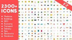 أكثر من 2300 أيقونة متحركة للأفترإفكت | Animated Icons Pack