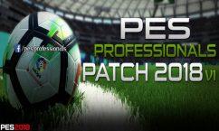 باتش لعبة بيس 2018 | PES Professionals Patch 2018 V1