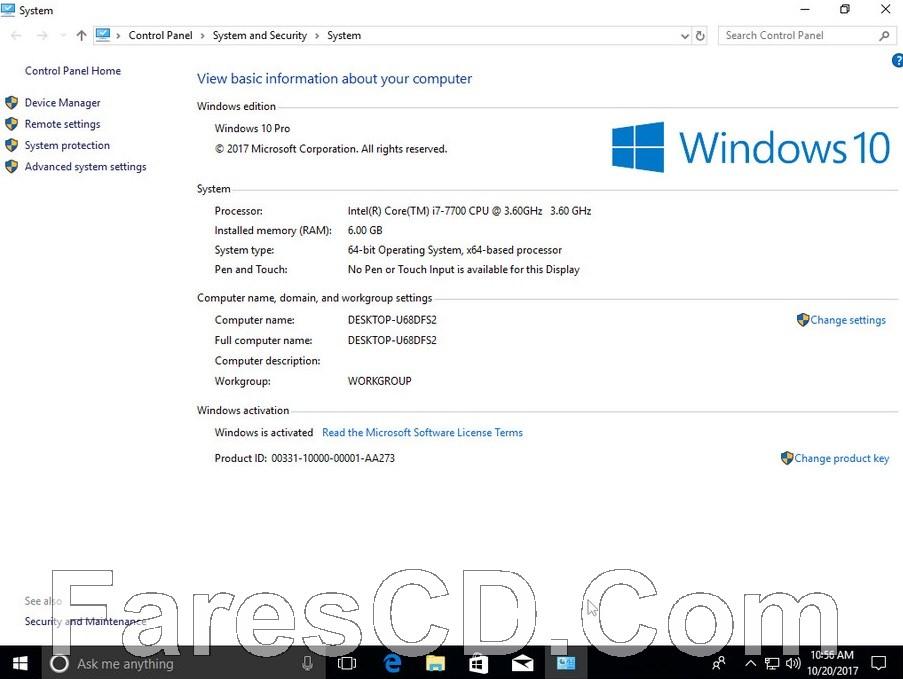 ويندوز 10 RS3 مع أوفيس 2016 | Windows 10 Pro X64 Office16 | بتحديثات أكتوبر 2017