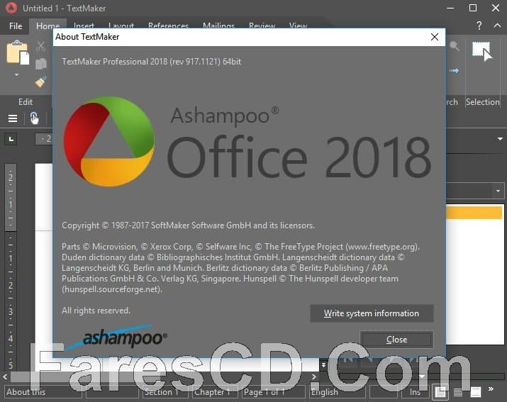 برنامج أشامبو أوفيس 2018 | Ashampoo Office Professional 2018 Rev 917.1121