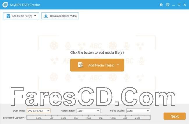 برنامج إنشاء اسطوانات الدى فى دى | AnyMP4 DVD Creator 7.2.6