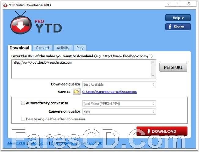 برنامج التحميل من اليوتيوب | YouTube Video Downloader Pro 5.9.0.3