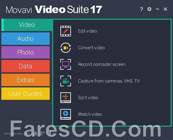 برنامج تحرير ومونتاج وتحويل الفيديو   Movavi Video Suite 17.2.0