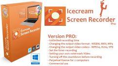 برنامج تصوير الشاشة بالفيديو والصور | IceCream Screen Recorder PRO 5.10