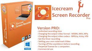 برنامج تصوير الشاشة بالفيديو والصور | IceCream Screen Recorder PRO 6.26