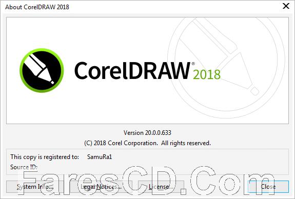برنامج كوريل درو 2018 | CorelDRAW Graphics Suite 2018 v20.0.0.633