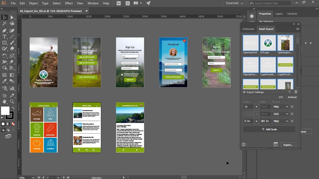 كورس تعلم تصميم UX بإليستريتور | Illustrator CC for UX Design