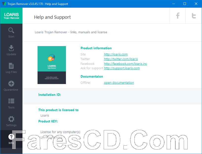 برنامج الحماية من فيروسات التروجان وإزالتها | Loaris Trojan Remover 3.0.45.178