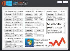 تجميعة تفعيلات الويندوز والأوفيس | Winoffact 1.0 | Windows & Office Activators