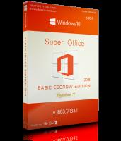 ويندوز 10 الجديد مع الأوفيس | Windows 10 Pro RS4 Super Office Basic Escrow 2018