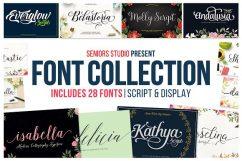 تجميعة الخطوط الإنجليزية | Creative Market Font Bundle 28 Fonts With Extras