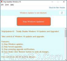 اداة إيقاف تحديثات ويندوز 10   StopUpdates10 1.10.18