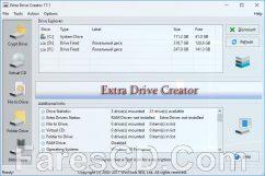 برنامج إنشاء محركات أقراص إضافية | Extra Drive Creator 17.1