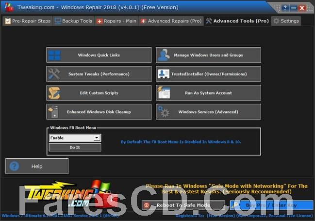 تجميعة أدوات صيانة الويندوز | Windows Repair