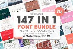 تحميل خطوط إنجليزية 2018 | Full 147 IN 1 Font Bundle