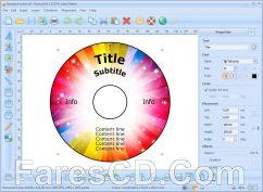برنامج تصميم وطباعة أغلفة الاسطوانات | RonyaSoft CD DVD Label Maker 3.2.17