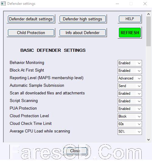 برنامج إدارة إعدادات الحماية لويندوز 10 | ConfigureDefender