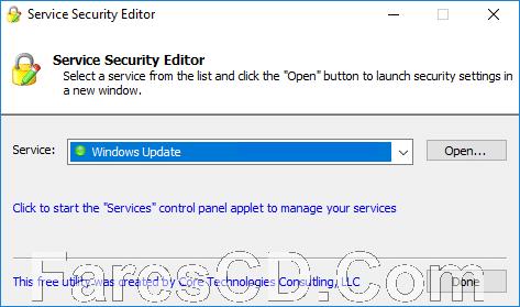 برنامج إدارة صلاحيات استخدام الويندوز | Service Security Editor