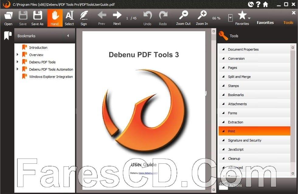برنامج إنشاء وتحرير ملفات بى دى إف | Debenu PDF Tools Pro