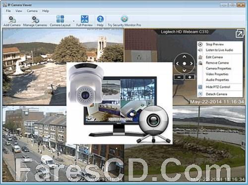 برنامج مشاهدة وإدارة كاميرات المراقبة | IP Camera Viewer