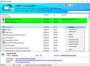 برنامج Hibit Uninstaller 2.1.23