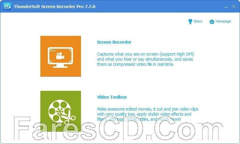 برنامج تصوير الشاشة وتحرير الفيديو | ThunderSoft Screen Recorder Pro