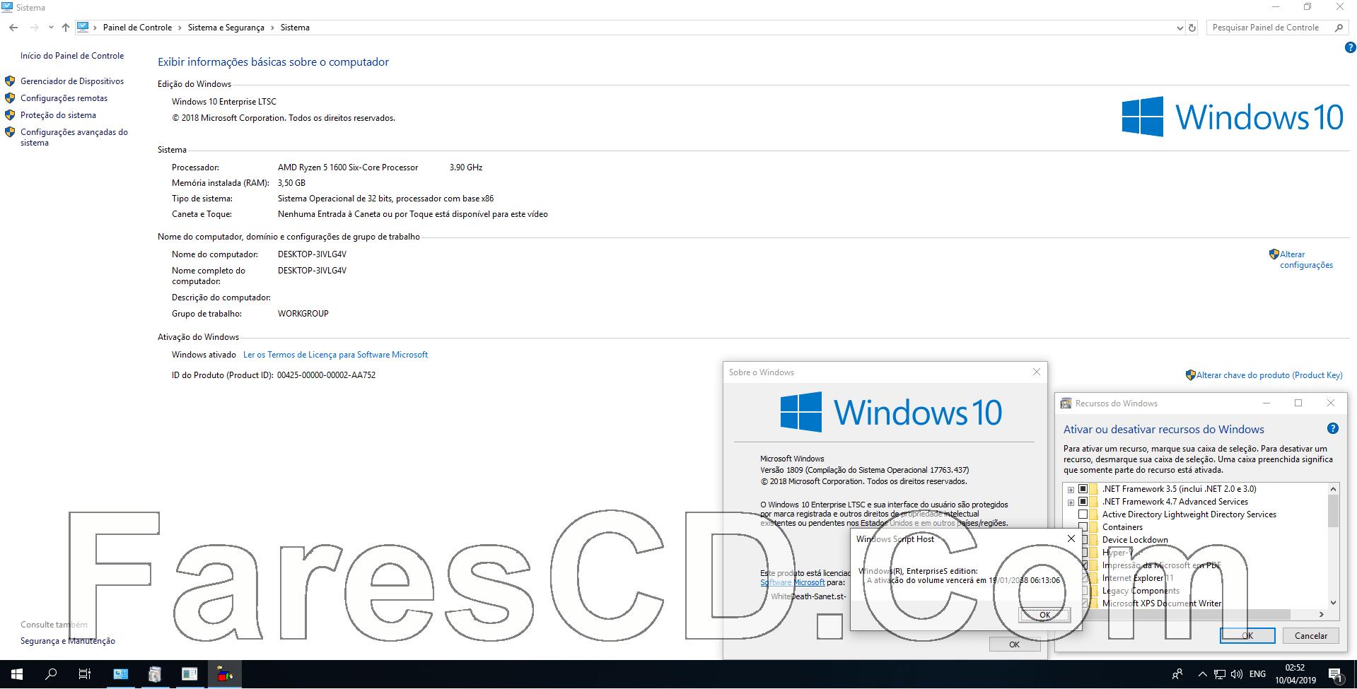 تحميل ويندوز 10 إنتربريز | Windows 10 Enterprise LTSC RS5 | ابريل