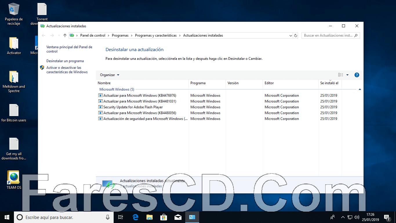 كل إصدارات ويندوز 10 RS5 بـكل اللغات | Windows 10 X64 RS5 | يناير
