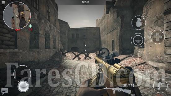 لعبة الاكشن الرائعة للاندرويد World War Heroes Mod V1 10 5