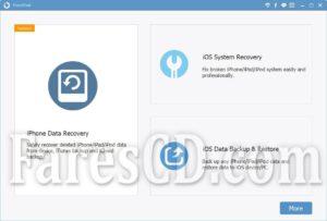 برنامج استعادة المحذوفات من الايفون   FonePaw iPhone Data Recovery 7.8.0