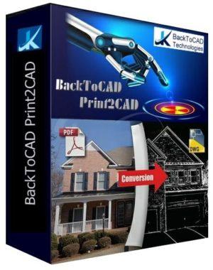 برنامج تحويل ملفات الاوتوكاد   BackToCAD Print2CAD 2020 22.21f